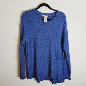 Philosophy crew long sleeve sweater blue black
